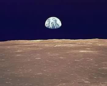 Earthrise from the Moon - NASA - click for biosphere